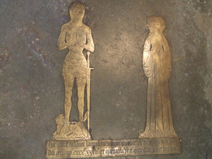 Brass of John Launcelyn at Cople, who died on May 7th 1435