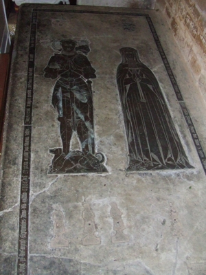 The Greens tomb in the church
